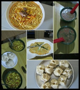 Momos, Thukpa, traditional Tibetan and Spitian food