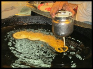 Jalebis being made fresh