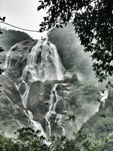 The Dudhsagar Waterfalls
